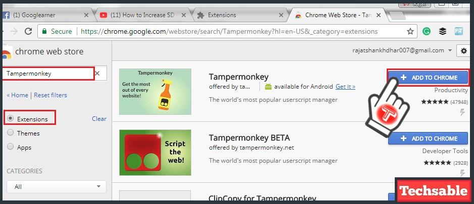 tampermonkey chrome extension