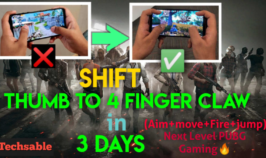 4 Finger Claw PUBG Mobile Setup: Shift from Thumbs to 4 Finger Claw